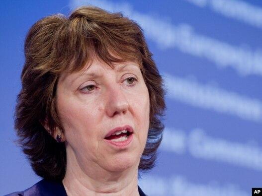 کاترین اشتون، رئیس سیاست خارجی اتحادیه اروپا