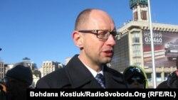 Арсений Яценюк, лидер оппозиционной партии «Батькивщина».