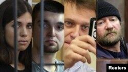 Pussy Riot's Nadezhda Tolokonnikova, Bolotnaya defendant Stepan Zimin, opposition leader Aleksei Navalny and Greenpeace activist Paul Ruzycki
