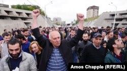Антиурядовий протест у Єревані, Вірменія, 20 квітня 2018 року
