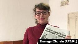 Корреспондент «Актобе Таймс» Татьяна Токарь. Архивное фото.