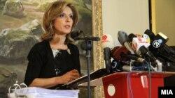 Прес-конференција на министерката за култура Елизабета Канческа-Милевска во Музејот на ВМРО.
