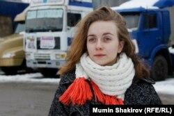 Анастасія Нікітенко у таборі далекобійників у Хімках під Москвою