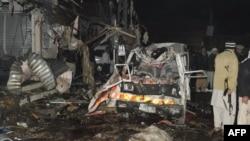 На місці вечірніх вибухів у Кветті, 10 січня 2013 року