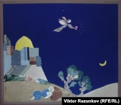 Картина, созданная Еленой Баснер из сотен кусочков ткани