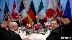 """Встреча лидеров """"Большой семерки"""" в Гааге"""