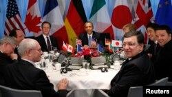 G7 жетекшілері кездесуі. Гаага, 24 наурыз 2014 жыл. (Көрнекі сурет)