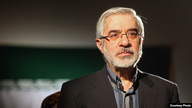 Opposition leader Mir Hossein Musavi in a May 2010 photo