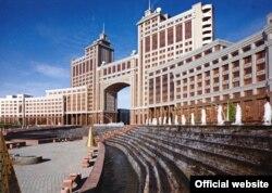 """Здание компании """"КазМунайГаз"""" в Астане."""