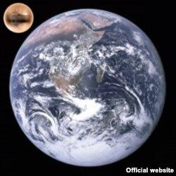 Плутон жана Жер (иллюстрация).