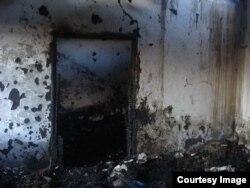 Case ale unor ceceni acuzați de a fi militanți separatiști incendiate în satul Iandi (decembrie 2014)