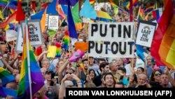 Протест проти закону щодо «пропаганди» гомосексуалізму в Росії, Нідерланди, серпень 2013 року