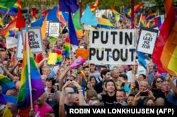 Марш ЛГБТ в Амстердаме