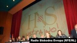Sa jednog od zasjedanja Hrvatskog narodnog sabora (HNS), političke organizacije hrvatskih stranaka u BiH