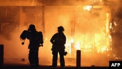 Спроба патушыць пажар у Фэргасане