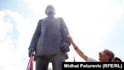 Открытие аналогичного памятника Принципу в Сараево в 2014 году