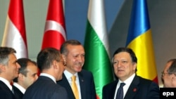 Is there a producer in the house? Nabucco Gas Pipeline signing ceremony in Ankara on July 13