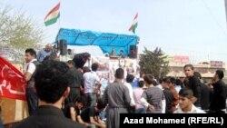 محتجون في ساحة السراي بالسليمانية