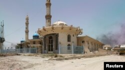 Мечеть в центре Фаллуджи, Ирак, 20 июня 2016 года.