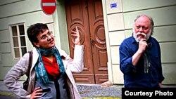 Оксана Забужко и Игорь Померанцев. Фото: ZeitZug by Milena