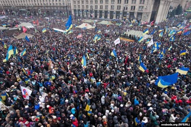 Революція гідності. Київ, майдан Незалежності, 8 грудня 2013 року