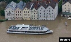 Inundații în Germania, la Passau, 4 iunie 2013