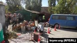 Демонтаж гаражей в Симферополе