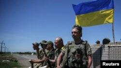 Украінскія вайскоўцы (архіўнае фота)
