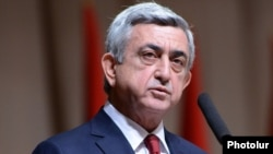 Armenia - President Serzh Sarkisian gives a speech in Yerevan, 15Feb2014.