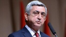 Armenian President Serzh Sarkisia