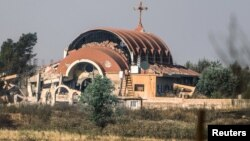 Ассирийская церковь, взорванная боевиками