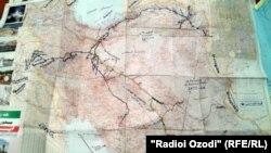 Путь, который прошли пешие паломники, указан на карте