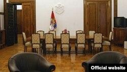 Sala za sastanke u Predsedništvu Srbije