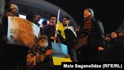 """Акция в поддержку """"Евромайдана"""". Тбилиси, 11 декабря 2013 года."""