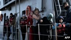 Грекиядағы мигранттар (Көрнекі сурет).