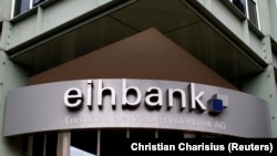 GERMANY -- General view of the entrance to the European-Iranian Trade Bank AG eihbank (Europaeisch-Iranische Handelsbank) in the northern German town of Hamburg, September 8, 2010