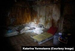 Подвал СБУ, в котором держали заложников в Славянске