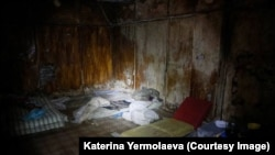 The basement of the SBU building in Slovyansk where separatists held their prisoners