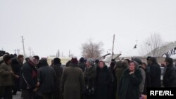 Protesters gathered in Naryn
