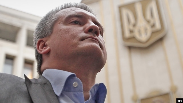 """Supply the homes that are entirely dependent on electric power, and supply the other ones using generators under a separate scheme. Do it! We've said this 100 times. (Expletive) No damn thing is working anywhere,"" Sergei Aksyonov said. (file photo)"