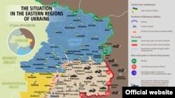 Донбастағы майданның картасы