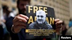 Митинг в поддержку журналиста Афгана Мухтарлы