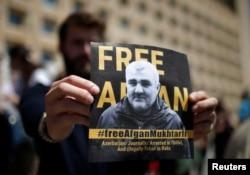 Одна из акций протеста в Тбилиси в связи с похищением Афгана Мухтарлы. 31 мая