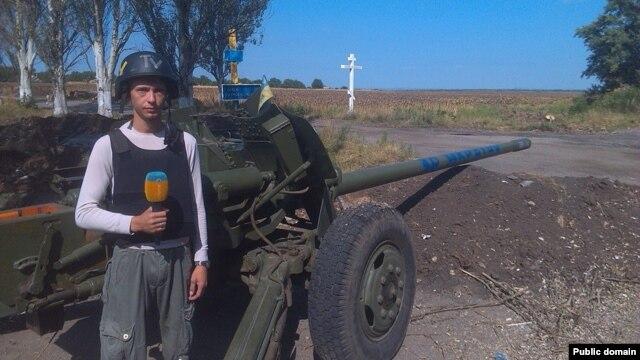 Журналіст «Еспресо-ТВ» Єгор Воробйов (Фото зі сторінки Facebook: https://www.facebook.com/profile.php?id=100001034856134)