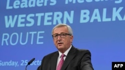 Ýewropa Komissiýasynyň prezidenti Jan-Klaud Junker, Brussel, 25-nji oktýabr, 2015