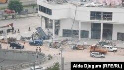 Građevinci u centru Sarajeva, 2. juli