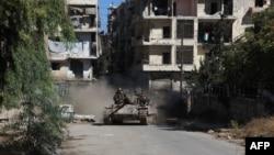 Один из районов Алеппо, где идут бои