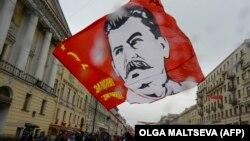 Cталин в Петербурге на первомайской демонстрации