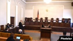 Armenia -- A Constitutional Court hearing in Yerevan, April 25, 2017.