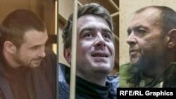 Захваченные украиснкие моряки, архивное фото